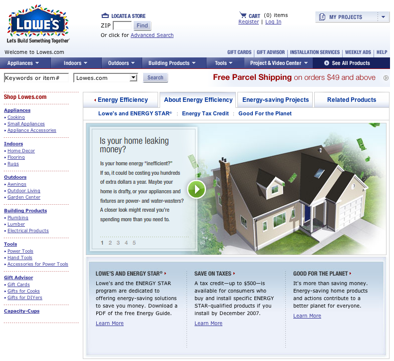 Chad Preston 187 Archive 187 Lowe S Banner Ads And Site Copy